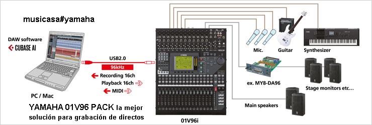Pack Yamaha 01v96 Mas Tarjeta Yamaha Adat Y 2 Racks
