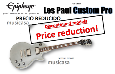 Epiphone Ltd Ed Les Paul Custom Pro TV Silver
