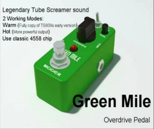MOOER-Green-Mile-Micro-Compact-Tube-Screamer-Effect-Pedal-True-Bypass