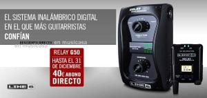 line6g50.Sistema digital inalámbrico emisor-receptor para guitarristas bajitas