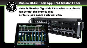 MACKIE DL32R ofrece 32 canales de potente mezcla digital controlados de forma inalambrica