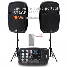 Equipo de audio portátil STAGE PS300-V