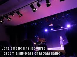 Concierto de Final de Curso Academia Musicasa en la Sala Dante