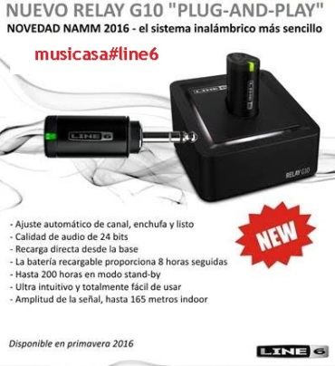 LINE 6 RELAY G10 WIRELESS GUITAR SYSTEM Inalambrico para instrumento