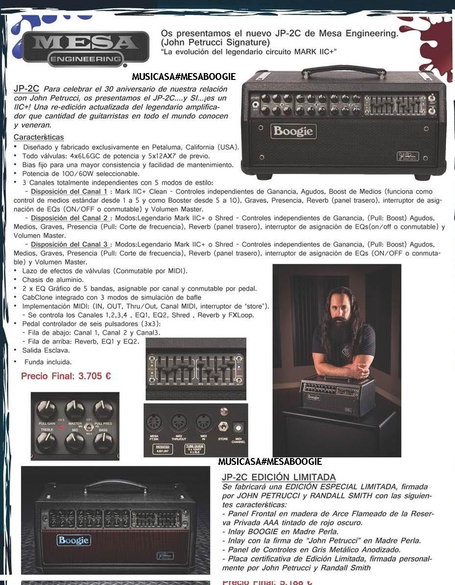 Nuevo Mesa Boogie JP-2