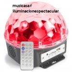 MAXLIGHT Magic Jelly DJ Ball Activada por sonido 6x 1W LED 153225