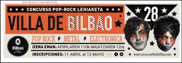 nueva edición del Concurso Pop-Rock Villa de Bilbao.