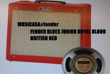 FENDER BLUES JUNIOR ROYAL BLOOD BRITISH RED