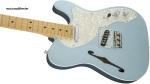 FENDER TELECASTER AMERICAN ELITE THINLINE MN NATURAL Guitar Incl Case B