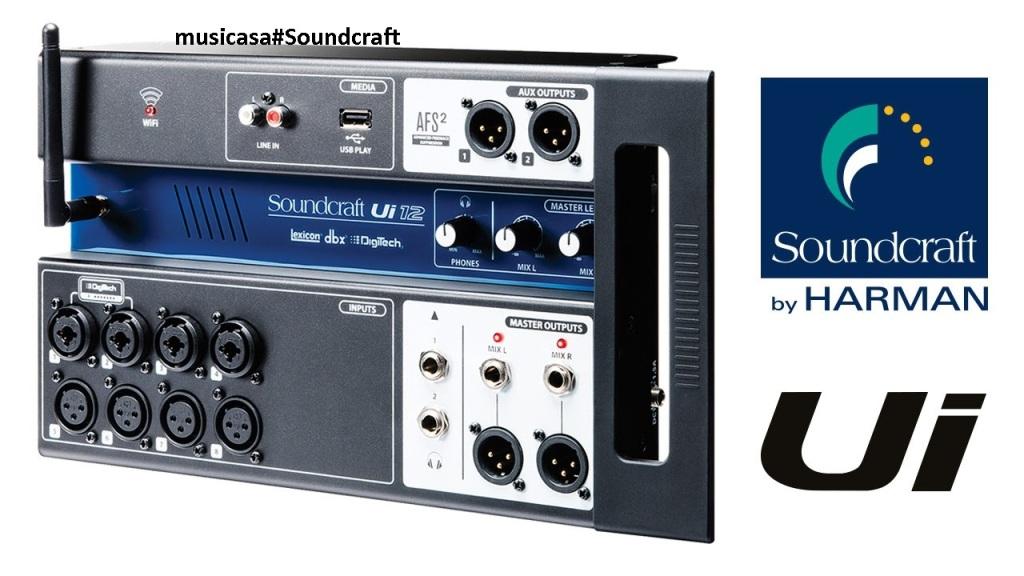 Soundcraft y su nueva serie de mezcladores digitales Ui 12