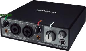 Tarjeta de sonido capturadora de audio ROLAND RUBIX22 USB