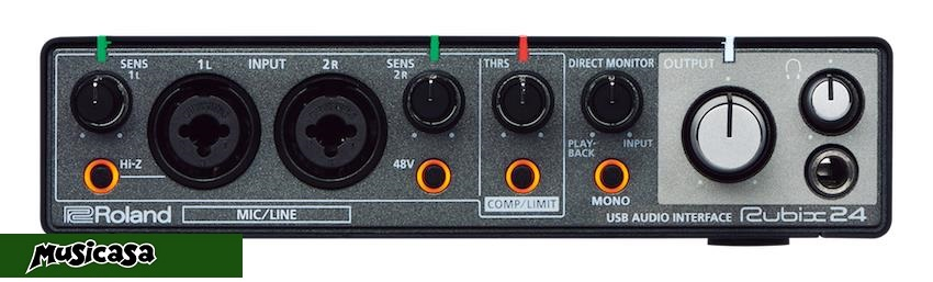 ROLAND RUBIX 24 USB Audio Interface 2 in 4 out PC MAC IPAD